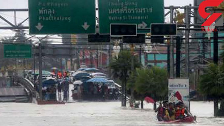 سیل در جنوب تایلند جان 12 نفر را گرفت/ آسیب دیدن هزاران ساختمان
