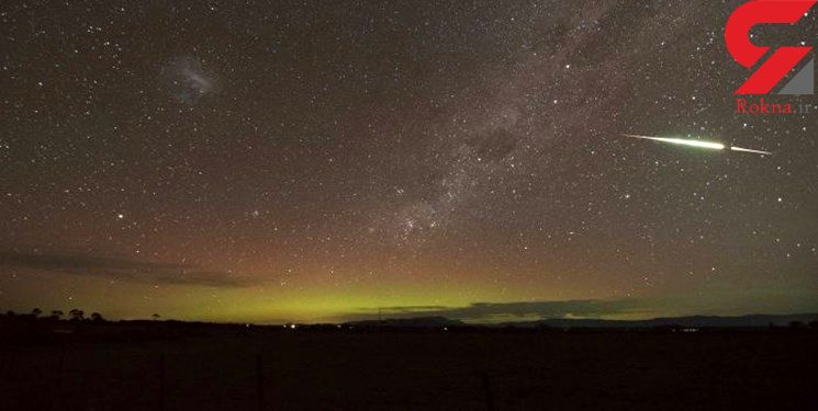 وحشت در آسمان استرالیا از بارش شهابی + فیلم