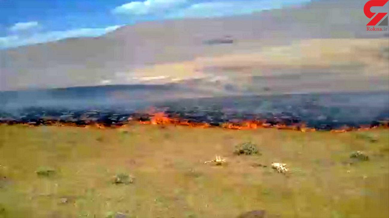 فیلم آتشسوزی مراتع در روستای چپقلو