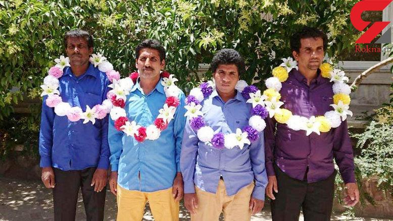 شادمانی مردم سیستان و بلوچستان از آزادی 4 صیاد ایرانی از چنگال دزدان سومالی + عکس
