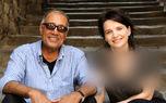 عکس دیده نشده از عباس کیارستمی در کنار خانم بازیگر بی حجاب