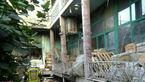 انبار پارچه بازار مولوی در آتش سوخت + تصاویر