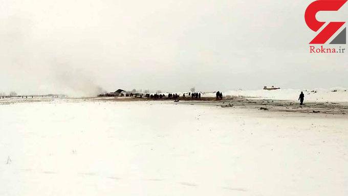 اولین عکس از سقوط هواپیمای شرکت آریانا