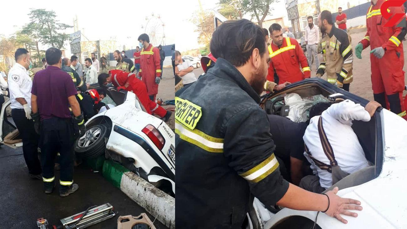 مرگ  هولناک زن و مرد جوان در جاده خاوران + عکس