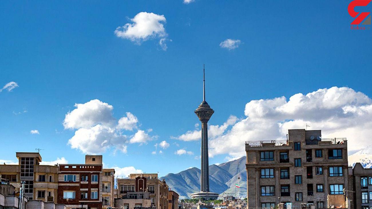 شاخص سبز هوای تهران پس از بارندگی