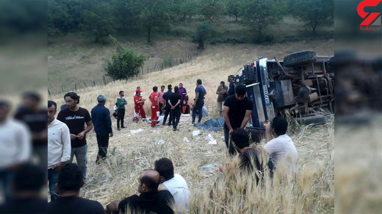 واژگونی مرگبار بلیزر در گیلان / 9 مصدوم روانه بیمارستان شدند
