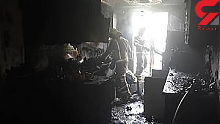 نجات دو تهرانی از میان شعله های آتش