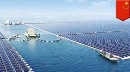 صفحات خورشیدی بر بستر رودخانه + فیلم