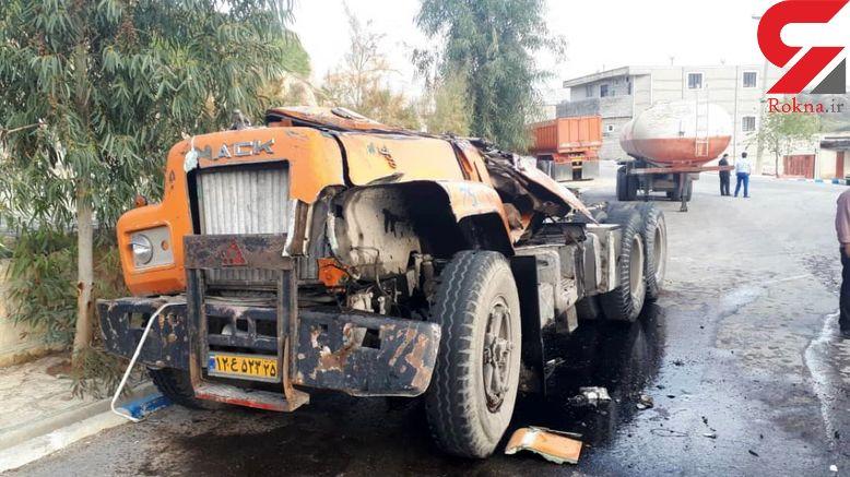 واژگونی یک دستگاه تریلر در روستای بهمن آباد
