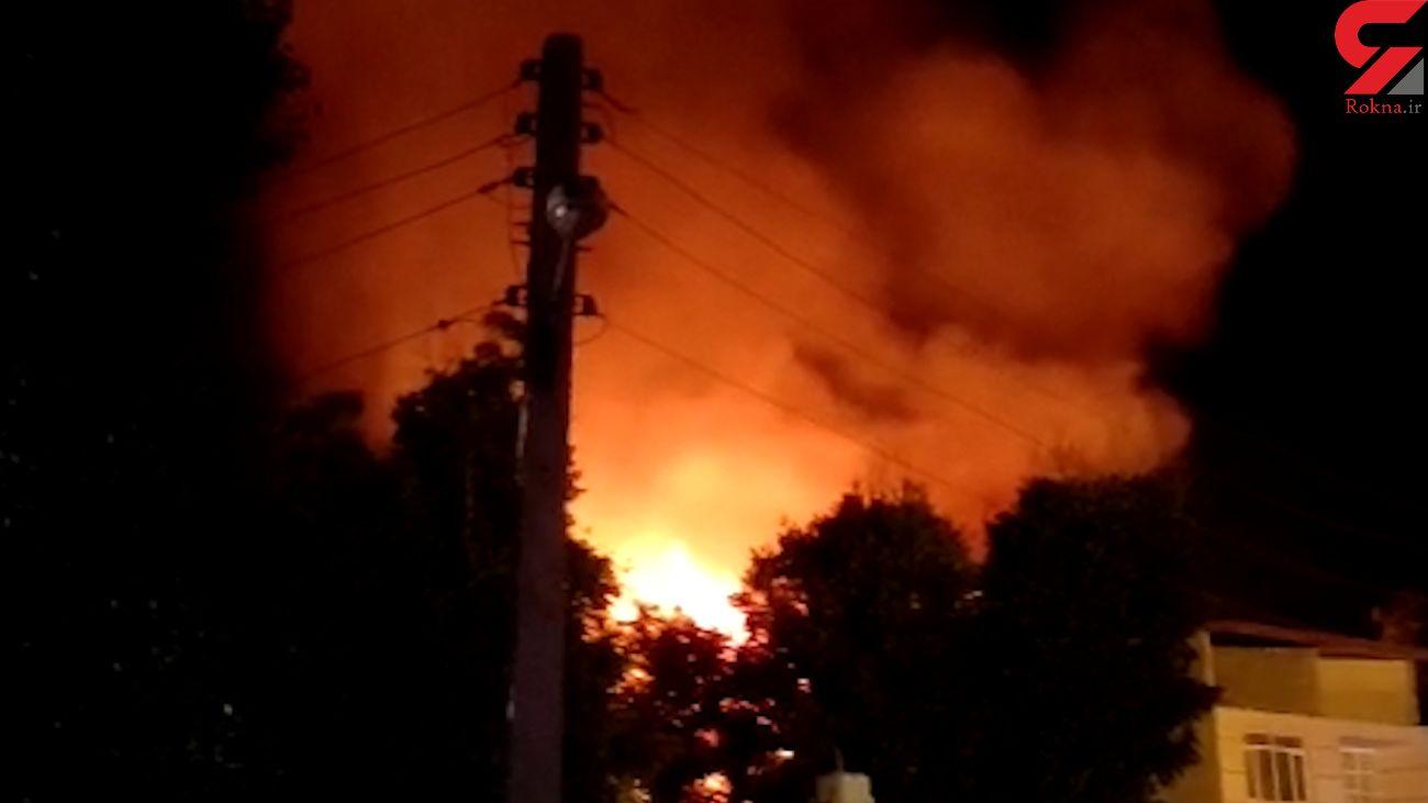 آتش سوزی بزرگ 8 خانه در جاده چالوس + فیلم