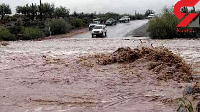طغیان رودخانه ها در رودبارکرمان راه ارتباطی ر86 وستا را مسدود کرد