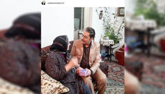 گوینده پیشکسوت خبر و مادرش +عکس