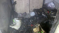 انباری ساختمان مسکونی در آتش سوخت