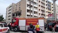 تخریب یک ساختمان در اهواز / انفجار گاز حادثه آفرید + عکس