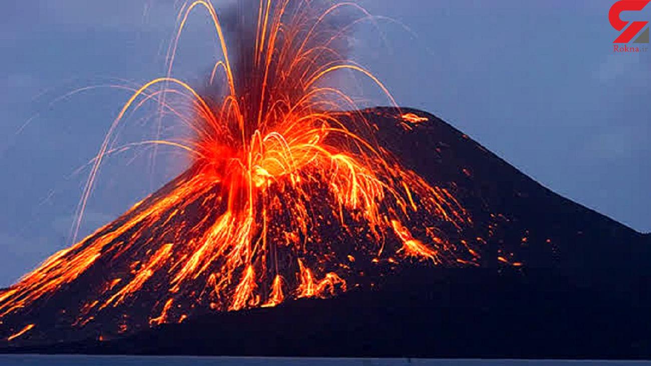 این آتشفشان بعد از 6 هزار سال فعال شد + فیلم
