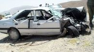 حادثه خونین در اتوبان قم/  2 کشته و 4 مصدوم در تصادف پژو و ساینا