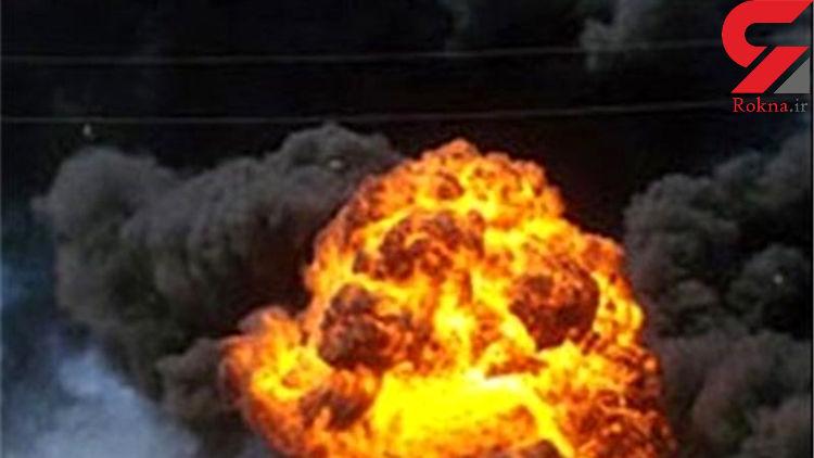 انفجار وحشتناک 620 لیتر اسید در خمینی شهر