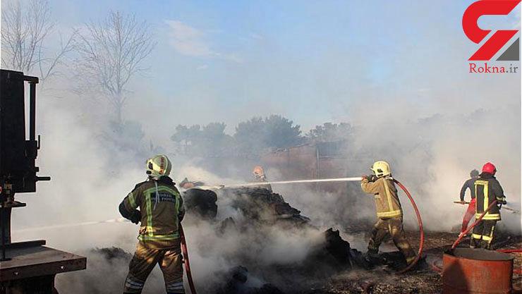 آتش سوزی مهیب در کارگاه مبل سازی جنوب پایتخت+تصاویر