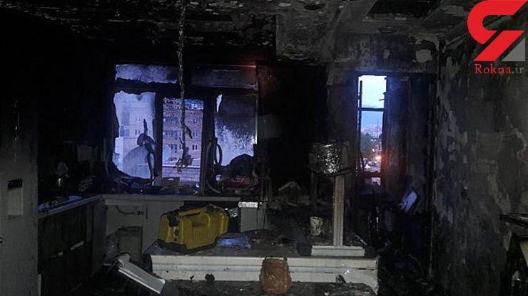 آتش سوزی یک خانه در خیابان شریعتی