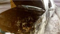 آتش سوزی خودرو روآ در پارکینگ طبقه منفی دو پاساژی در تبریز اطفاء حریق شد