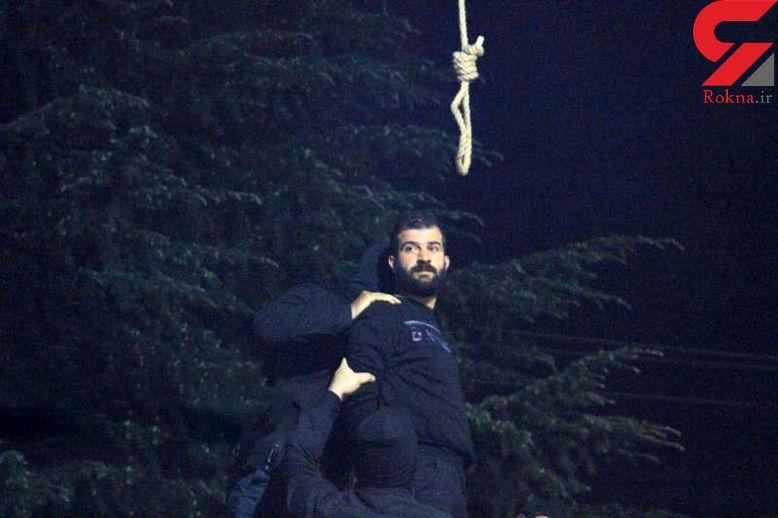 اولین عکس از اعدام صبح امروز قاتل شرور در پارک دانشجوی رشت