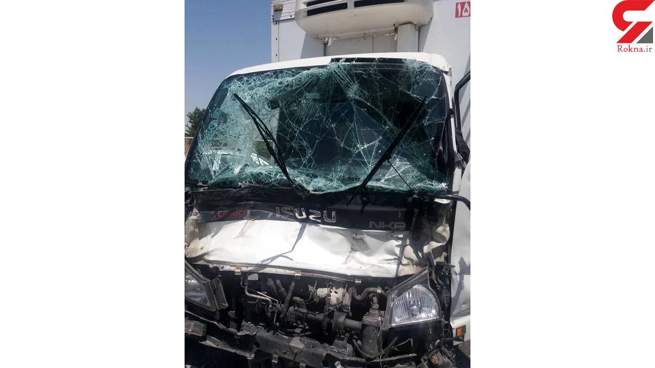 عکس های تصادف اتوبان تهران _ ساوه / یک نفر مصدوم شد