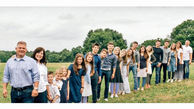 خانواده ای با 18 فرزند+عکس