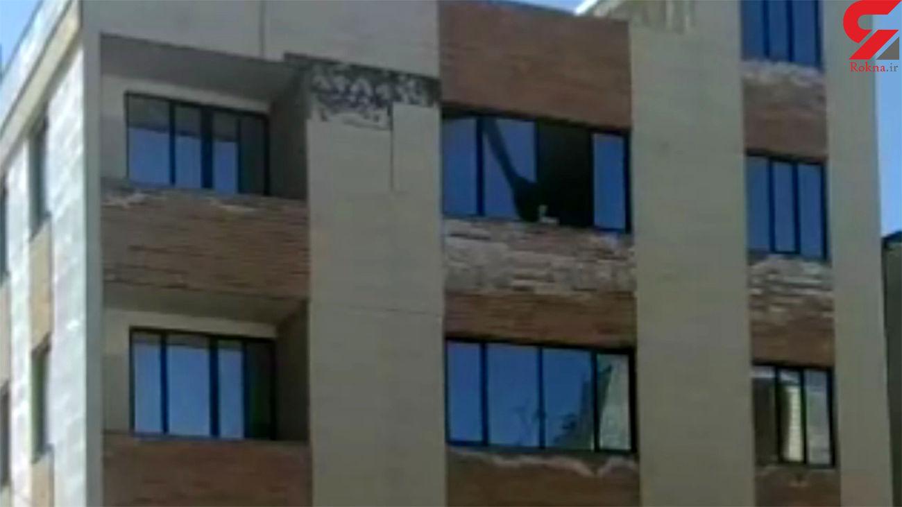 فیلم لحظه ریزش ساختمان مسکونی در همدان