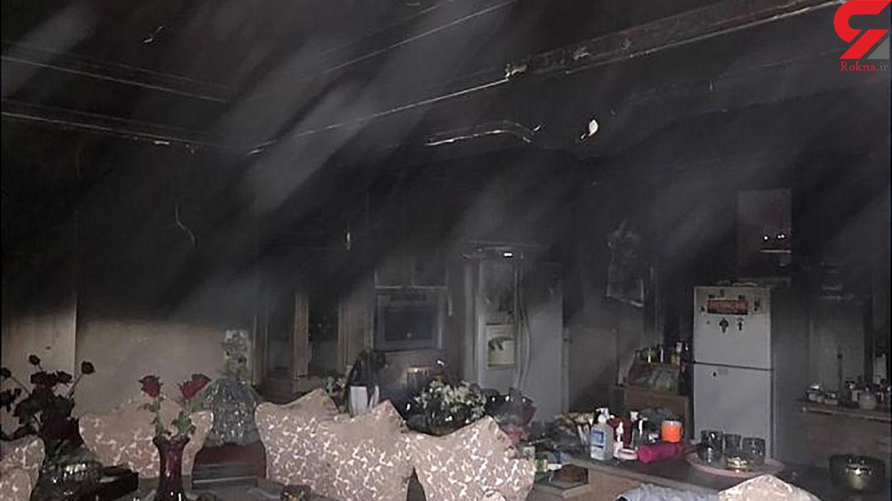 آتش سوزی خانه مسکونی در خیابان بهار شمالی + عکس های حادثه